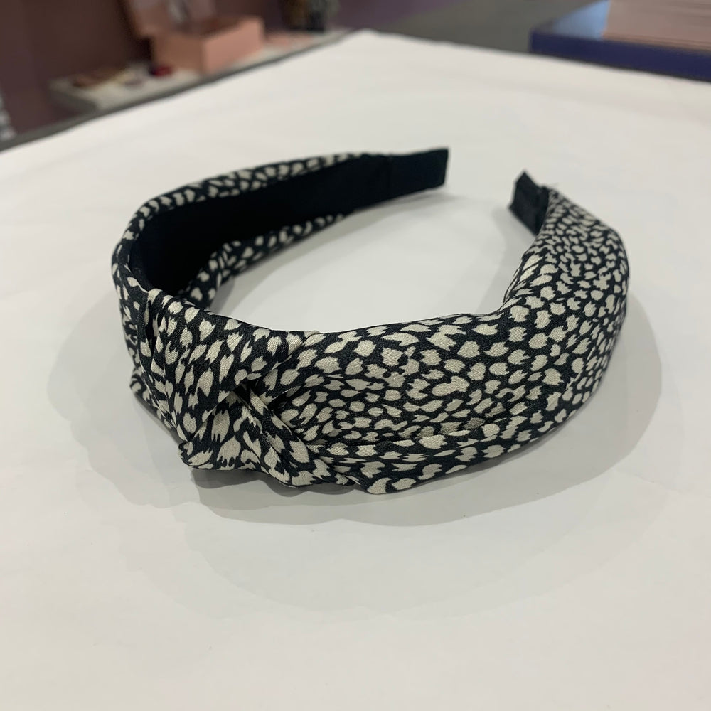 Harley Patterned Headband In Black