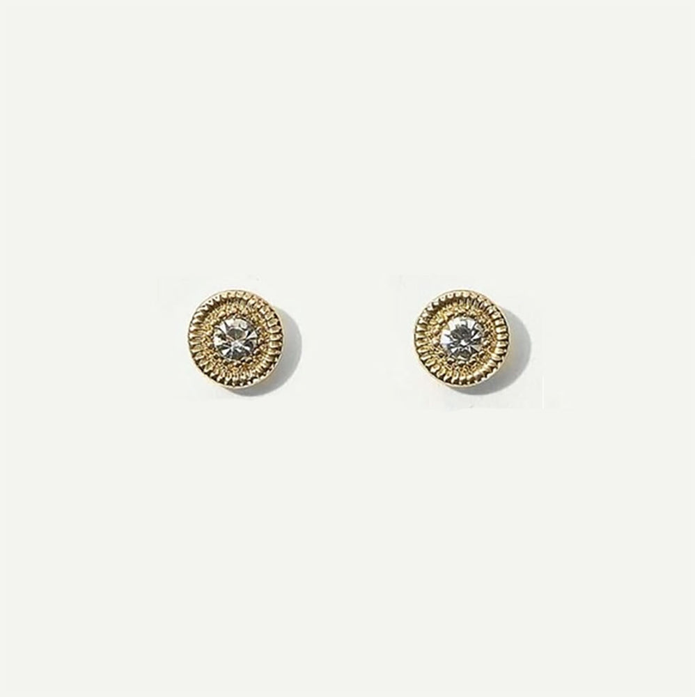 Carter Stud Earrings In Gold/Diamante