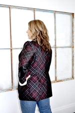 The Stunning Oxblood Plaid Blazer