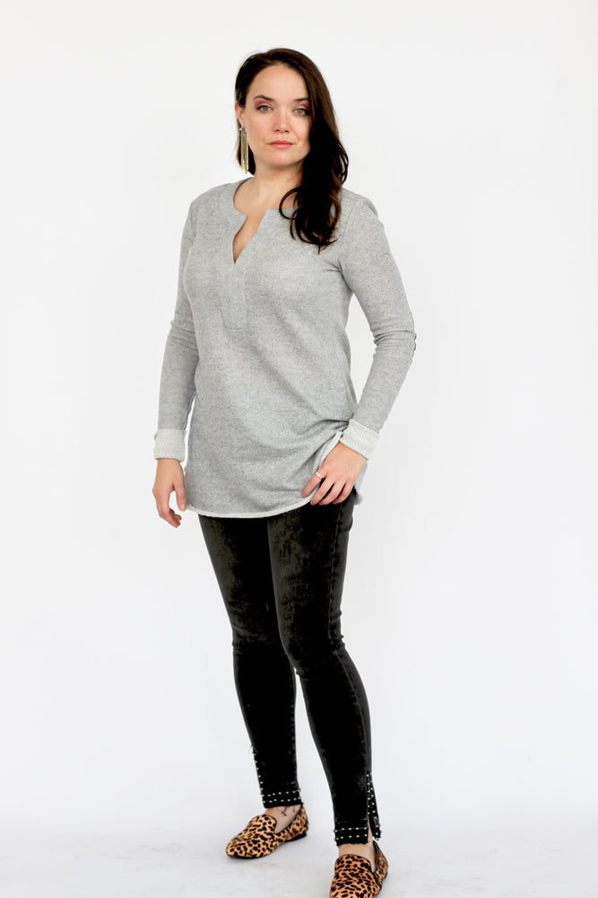 Heather Grey French Terry Tunic