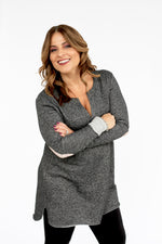 Charcoal French Terry Tunic