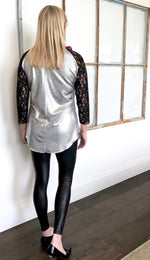 Metallic Baseball Tee