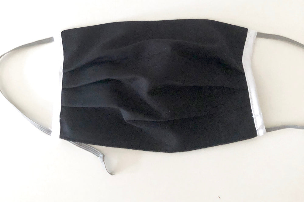 Black with White Trim - filter pocket - Pack of 2