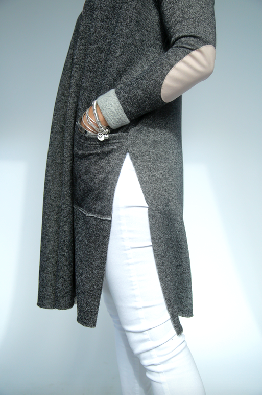 Fleece Side Slit Sweater