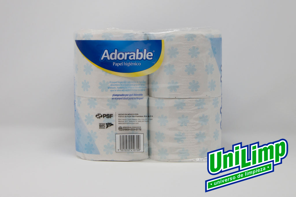 Papel Higiénico Adorable 400 H4/1