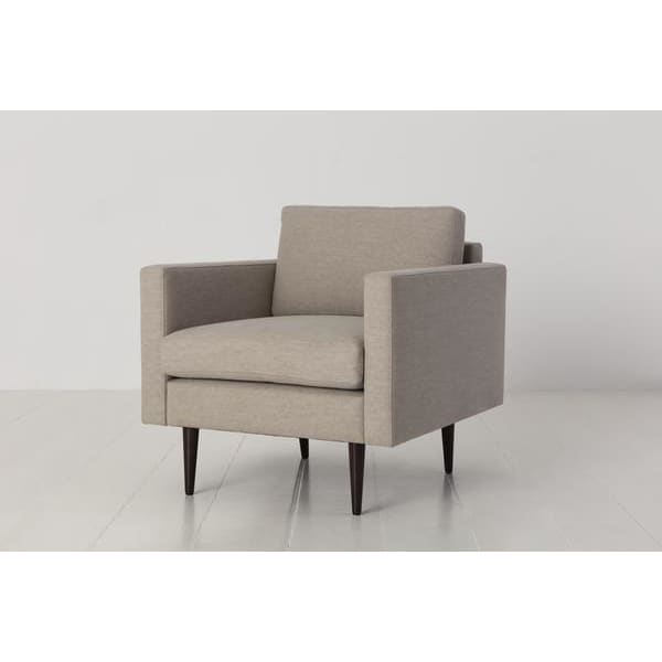 Model 01 Linen Armchair - Pumice Armchairs Swyft Home -