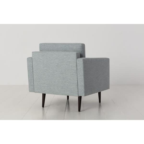 Model 01 Linen Armchair - Seaglass Armchairs Swyft Home -