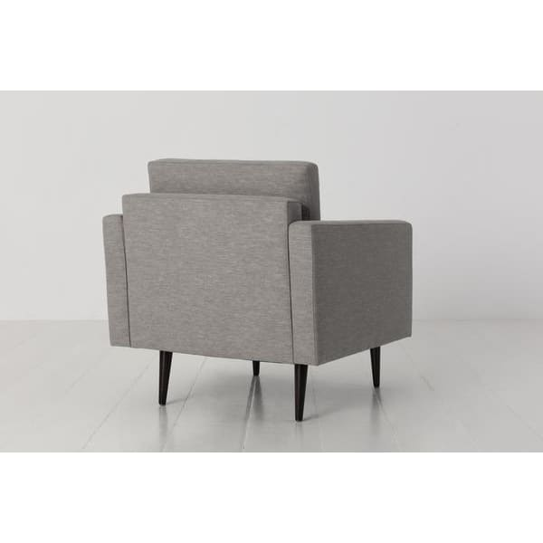 Model 01 Linen Armchair - Shadow Armchairs Swyft Home -