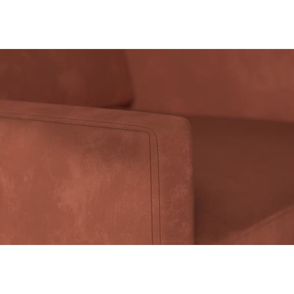 Model 01 Velvet Armchair - Brick Armchairs Swyft Home -