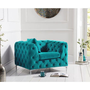 PT30366 Armchairs Mark Harris Furniture - Alegra Teal Plush