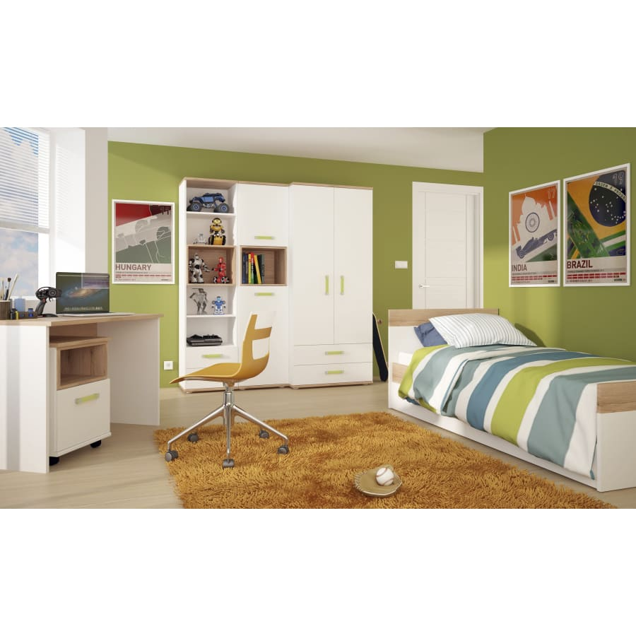 4059041 Beds Furniture To Go - 4Kids - Single Bed with under