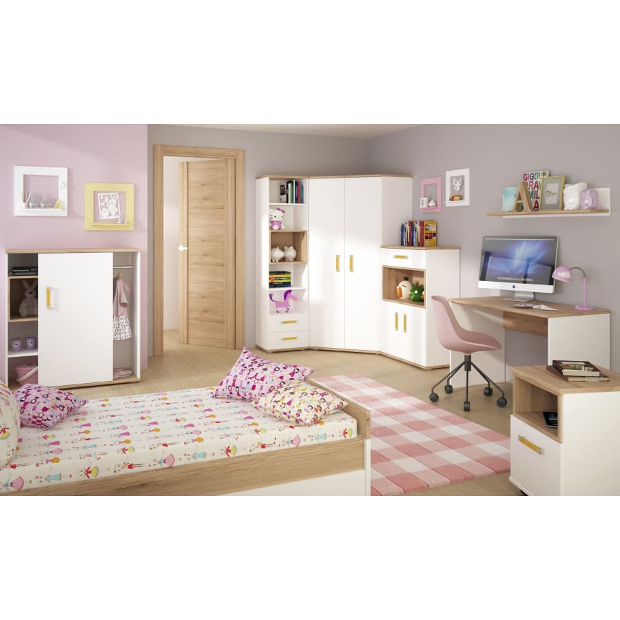 4051144P Bookcases Furniture To Go - 4Kids - Tall 2 Drawer