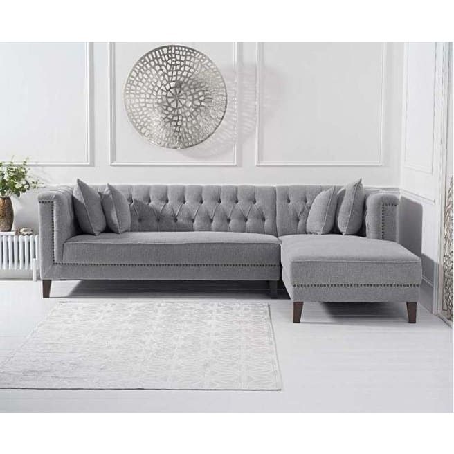 PT32917 Chaise Lounge Sofa Mark Harris Furniture - Tino Grey