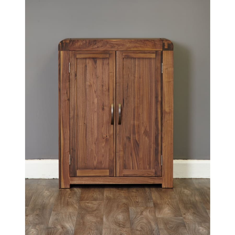 CDR20A Cupboards Baumhaus - Shiro Walnut Shoe Cupboard