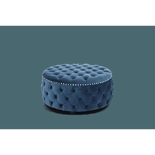 PT32946 Footstools Mark Harris Furniture - Fiona Blue Velvet