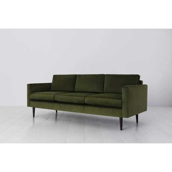 Model 01 Velvet 3 Seater Sofa - Vine Sofas Swyft Home -