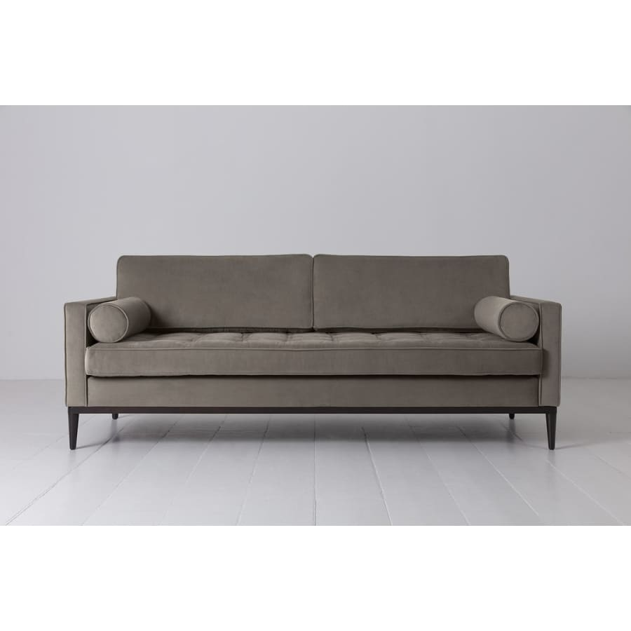 Model 02 Velvet 3 Seater Sofa - Elephant Sofas Swyft Home -