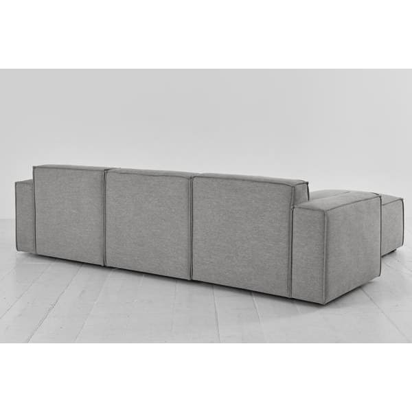 Model 03 Linen Modular 3 Seater Right Chaise - Shadow Sofas