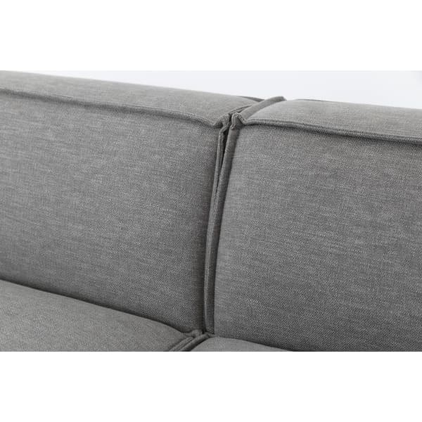 Model 03 Linen Modular 4 Seater Left Chaise - Shadow Sofas