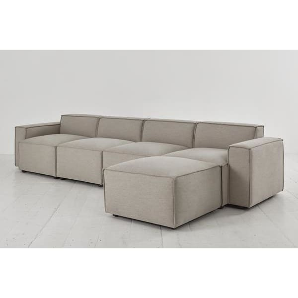 Model 03 Linen Modular 4 Seater Right Chaise - Pumice Sofas