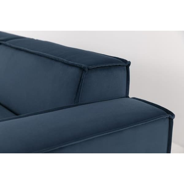 Model 03 Velvet Modular 4 Seater Left Chaise - Teal Sofas