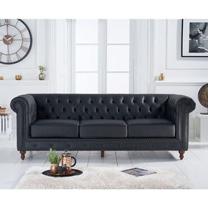 PT30578 Sofas Mark Harris Furniture - Montrose Black Leather