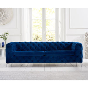 PT32631 Sofas Mark Harris Furniture - Alegra Blue Plush 3