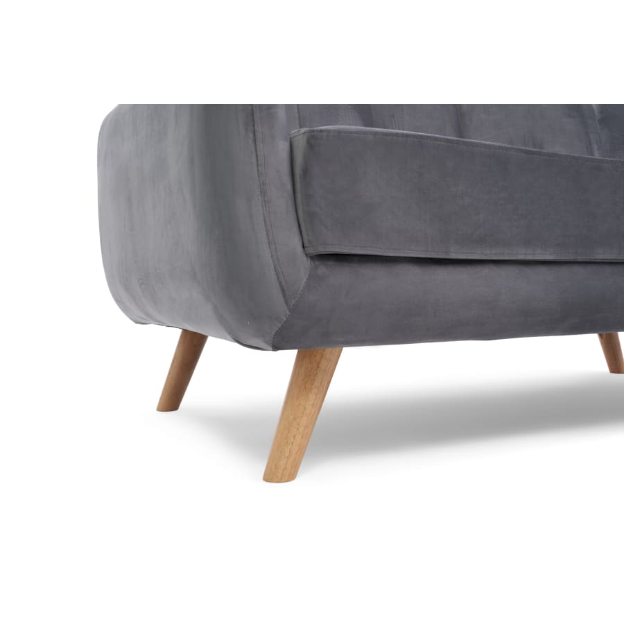 PT32975 Sofas Mark Harris Furniture - Caren Grey Velvet 2