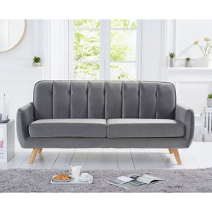 PT32976 Sofas Mark Harris Furniture - Caren Grey Velvet 3