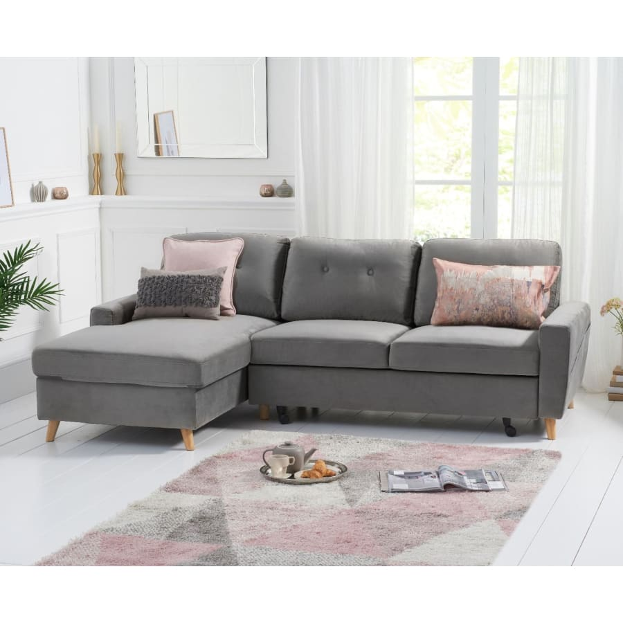 PT33065 Sofas Mark Harris Furniture - Carlotta Grey Velvet