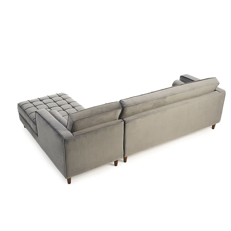 PT34112 Sofas Mark Harris Furniture - Anneliese Grey Velvet