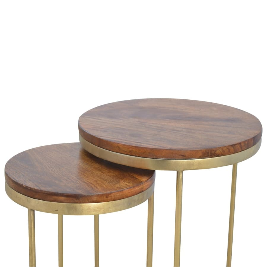 IN241 Stools Stunning Boutique Artisan 100% Solid Mango Wood