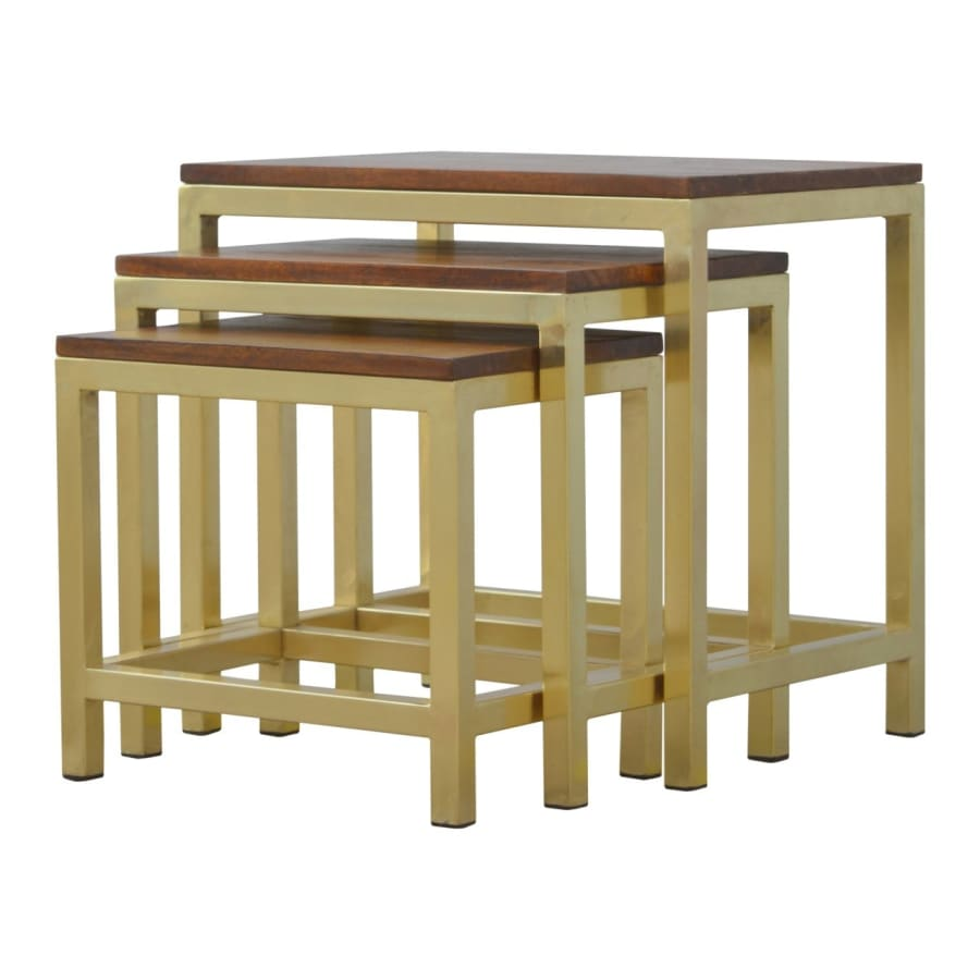 Stools In243 Boutique Artisan Furniture 100 Solid Wood Chestnut Stool Set Of 3 The Sofa Lovers Limited