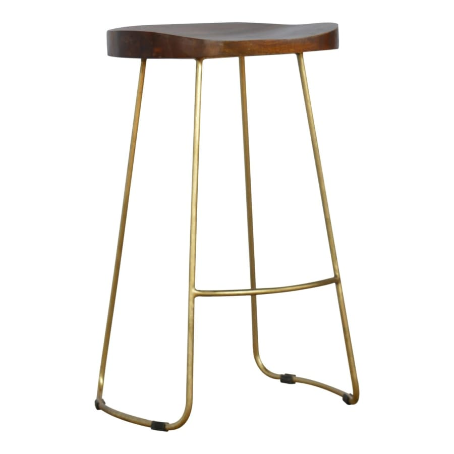 IN251 Stools Beautiful Boutique Artisan 100% Solid Mango