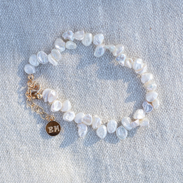 Irregular shaped Freshwater Pearl Bracelet