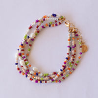 Colourful Miyuki Glass Beads and Pearl Bracelet