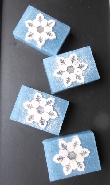 Snowflake decorative soap