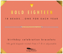 Load image into Gallery viewer, Happy Birthday 18 Beads Bracelet