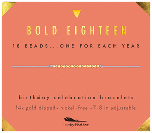 Happy Birthday 18 Beads Bracelet