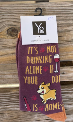 It's Not Drinking Alone If Your Dog Is Home Sock