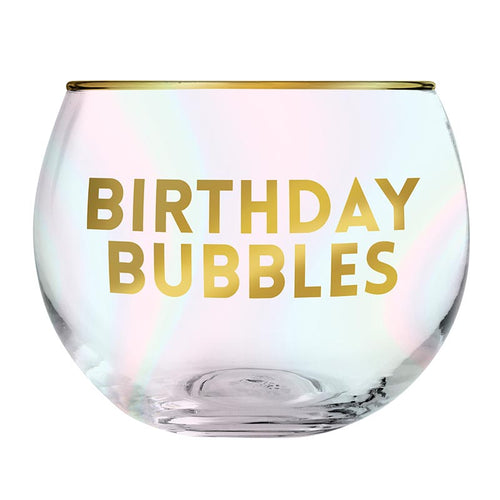 Birthday Bubbles Roly Poly Glass