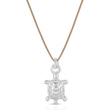 Load image into Gallery viewer, Silver Sea Turtle Necklace