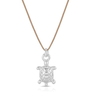 Silver Sea Turtle Necklace