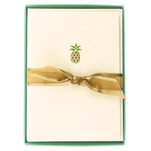 Boxed Pineapple Note Card