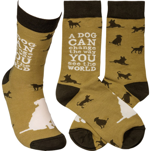 A Dog Can Change the Way You See the World Men Sock