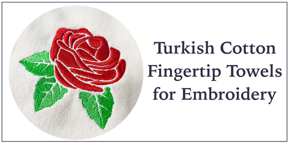 Turkish Cotton Fingertip Guest Towels for Embroidery