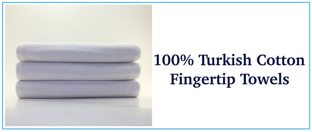 Wholesale white color fingertip towels guest in bulk