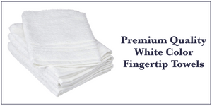 Pergee White Color Fingertip Guest Towels Wholesale