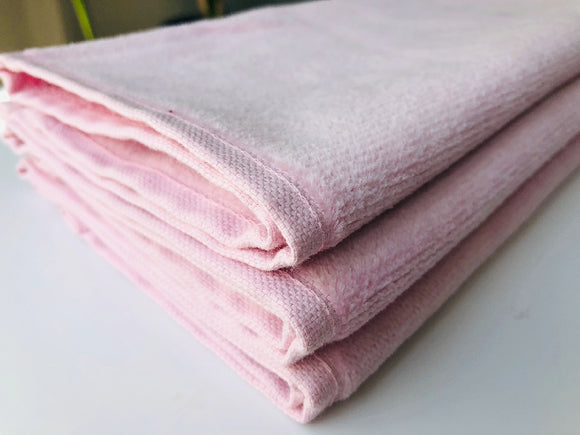 Deluxe Premium Quality Cotton Fingertip Towels, Pink Color