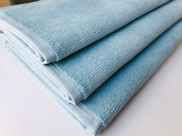 Deluxe Premium Quality Cotton Fingertip Towels, Blue Color